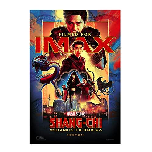 Liuqidong Cuadros Decorativos Póster de película Shang-chi y la Leyenda de los Diez Anillos, póster de película Shangchi, decoración del hogar 60x90cm