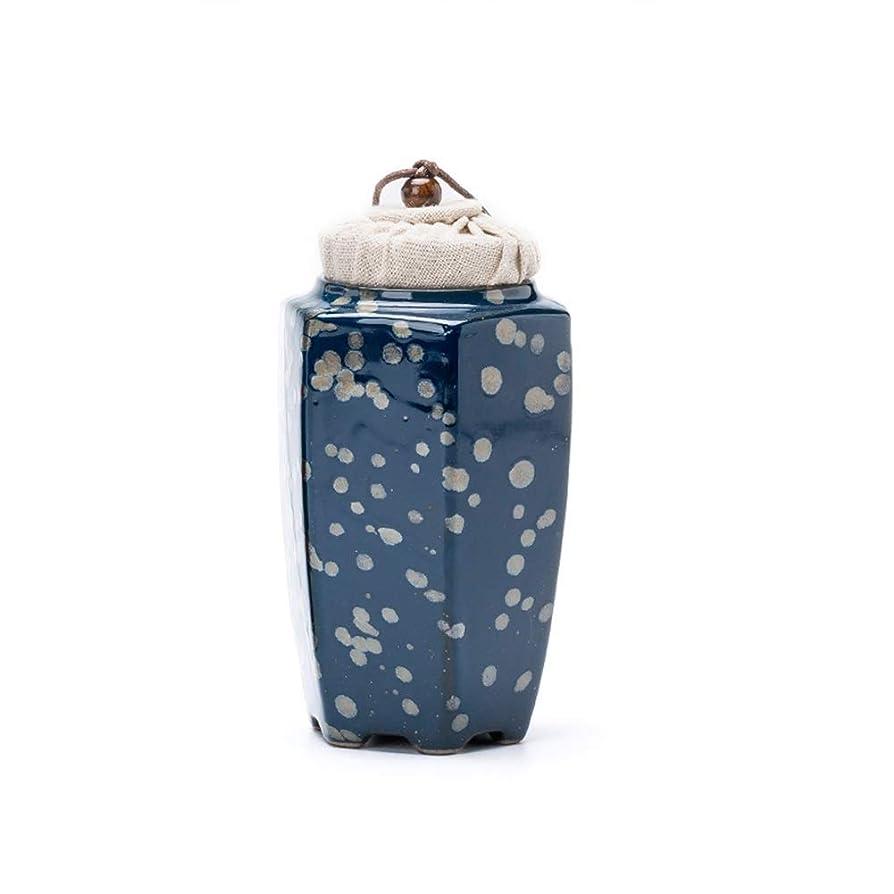 腹外向き反対したミニ骨壷 葬儀骨壷火葬壷大人の子供ペットの壷は湿気に対して密封されたセラミック材料ミニコンパクトのためのミニコンパクトのためのミニお土産完璧なお土産 (Color : Blue, Size : #2)