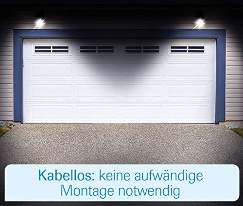 MediaShop Panta Safe Light 2er Set – LED Strahler für innen und außen – Außenleuchten mit Bewegungsmelder und Tageslichtsensor – wetterfeste LED Außenbeleuchtung – 2 Stk. - 8