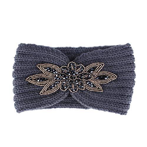 Harwls Dames-haarband met gebreide warme wijde haarband, casual accessoires voor de winter