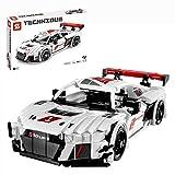 ZCXX Juego de construcción de coche deportivo, 678 piezas, piezas de construcción MOC Pull Back Auto bloque de montaje compatible con Lego Technic