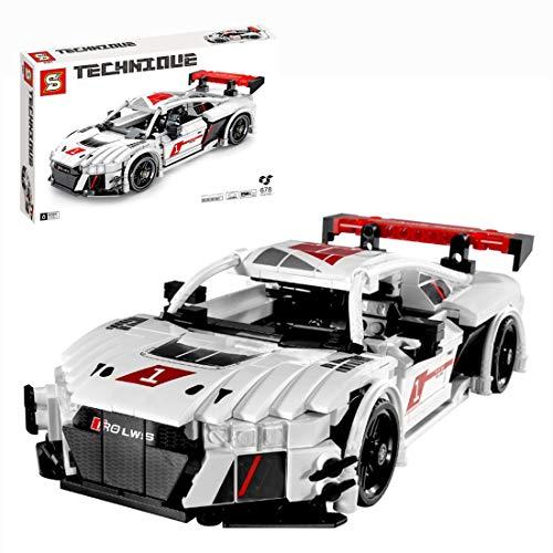 Bybo Piezas de construcción para coche deportivo con motor de retracción compatible con Lego – 678 piezas