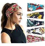 5 paquete de diadema de mujer estilo boho yoga bandana ancha venda elástica headwraps banda para el cabello …