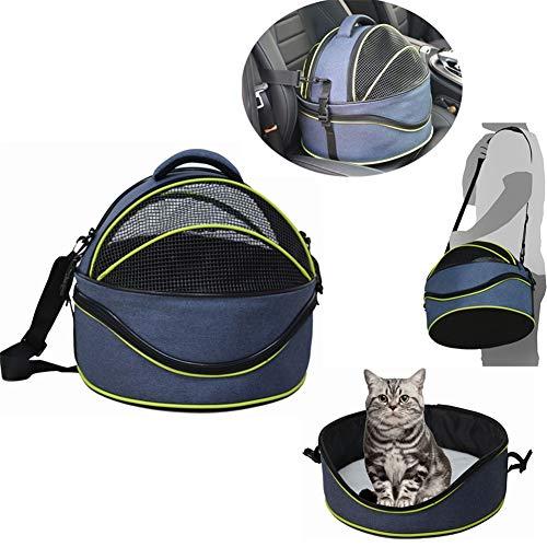 Jlxl Huisdier hond kat Carrier ronde vorm, 3-in-1 Multifunctionele hond kat bed/Schoudertassen/auto Reistas stevige puppy carrier,38 * 33cm