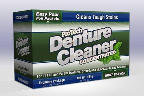 Protech Denture Cleaner 7g, (22 Pack)