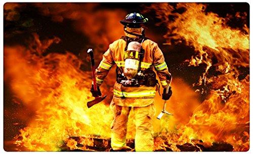 Feuerwehr Mann mit Axt Wandtattoo Wandsticker Wandaufkleber R1108 Größe 100 cm x 150 cm
