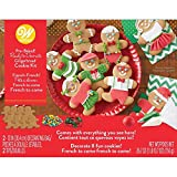 Gingerbread Boy Girl People Pre-Baked 8 Pc Decorating Kit Wilton
