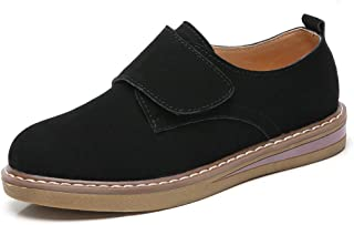 Women's Flat Heel Loafers Classic Handsewn Suede Leather Driving Moccasins Penny Loafers Casual Slip On Fashion Boat Shoes