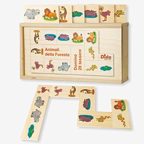 Dida - Dominó para Niños de Madera - Animales del Bosque (28 pzas)