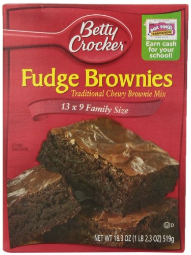 Betty Crocker Brownie Mix Fudge Family, 18.3-Ounce Boxes (Pack of 12)