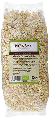 Bionsan Mixto de Cereales Hinchados Ecológicos - 3 Bolsas de 150 gr - Total : 450 gr