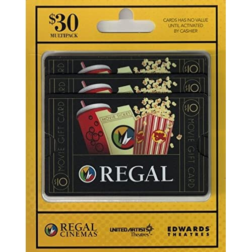Regal Entertainment Gift Cards, Multipack of 3