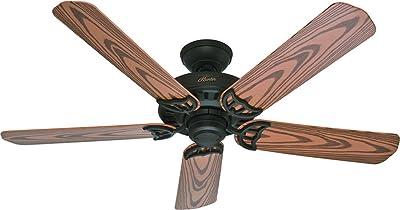 """Hunter Bridgeport Indoor / Outdoor Ceiling Fan with Pull Chain Control, 52"""", New Bronze"""