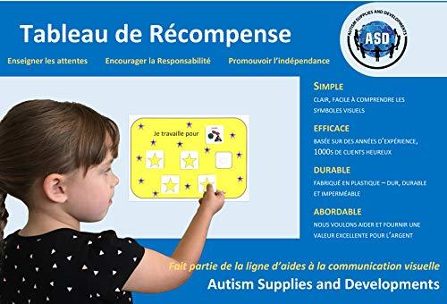 La charte de Récompense - Français (produit de communication visuelle en plastique et étanche pour l'autisme)