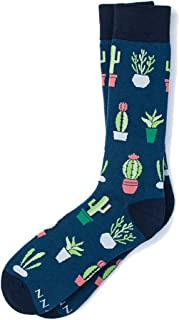 Men's Hipster Designer Cactus Desert Vibe Novelty Crew Dress Socks