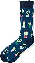 Men's Hipster Designer Cactus Desert Vibe Novelty Crew Dress Socks