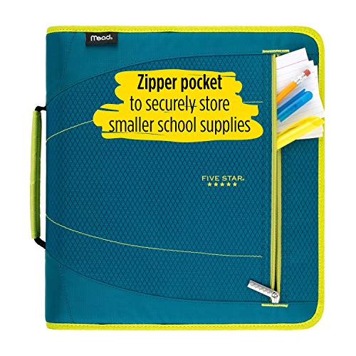Five Star 2 Inch Zipper Binder, 3 Ring Binder, Removable File Folders, Durable, Red/Black (29036CE8) Photo #4