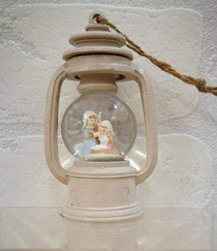 Subito disponibile Lanterna Luminosa con palla di neve Christmas Natale