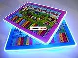 PREMIUM Hochwertiges 3D Tablet für Kinder - Sounds & LED Beleuchtung - Lernspiel Lerntablet Spieltablet Tablett Laptop PC Computer Kindercomputer Spielcomputer Lerncomputer -