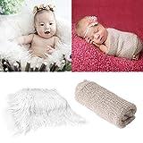 Tabpole Newborn Baby Photography Photo Blanket Wrap & Props Backdrop Fur Backdrops Mat Rug DIY Newborn Baby Photo Blanket