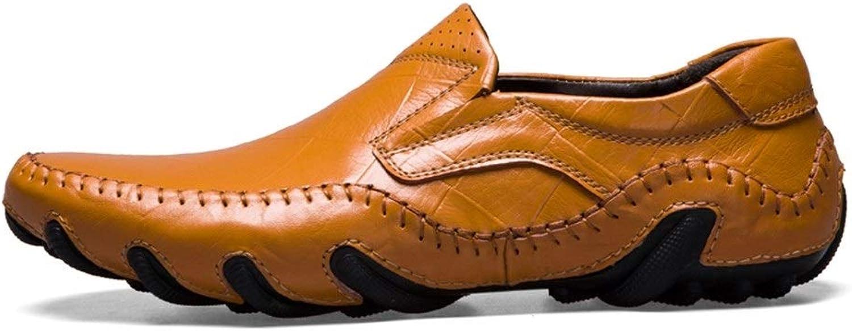 EGS-schuhe Driving Loafer für Mnner Stiefel Mokassins Slip On OX Leder Einfache Individualitt Octopus Sohle,Grille Schuhe (Farbe   Light braun, Gre   46 EU)