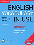 English Vocabulary in Use Elementary. Third edition. Book with Answers and Enhanced eBook.