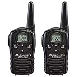 Midland - LXT118, FRS Walkie Talkies with Channel Scan - Extended Range Two Way Radios, Hands-Free VOX, (Pair Pack) (Black)
