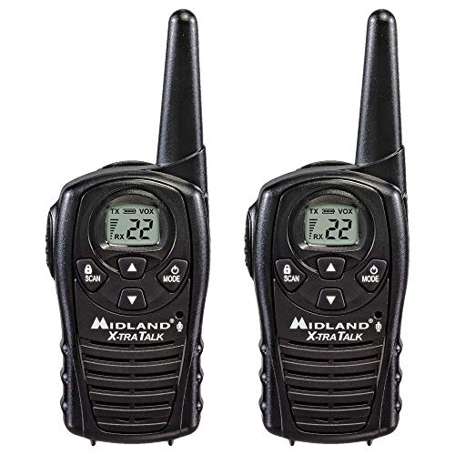 Midland - LXT118, FRS Walkie Talkies with Channel Scan - Extended Range Two Way Radios, Hands-Free...