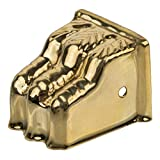 Stamped Brass Small Furniture Leg Claw Foot Toe Cap - Clawfoot to Protect Feets of Table, Dresser, Sofa or Other Modern & Antique Furniture   CS-7 (4)
