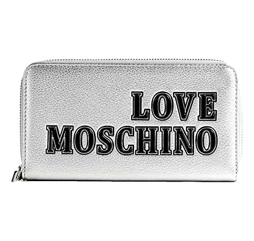 Love Moschino JC5634PP0BKG0, Portafogli Donna, Argento, Normale