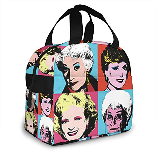 Golden Warhol Girls Portable Insulated Lunch Bag Waterproof Tote Bento Bag Lunch Tote