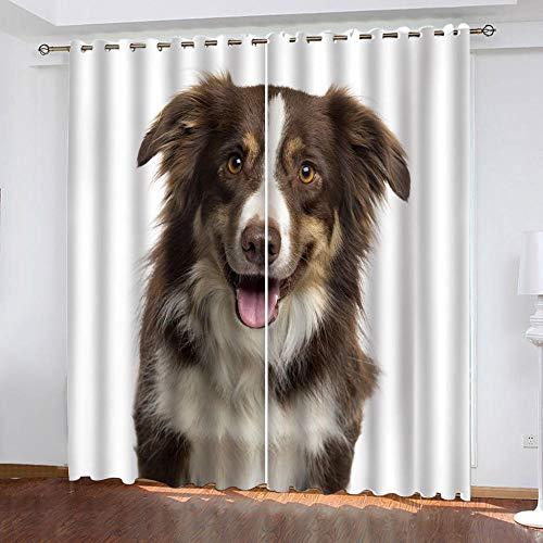 zpangg Verdunkelungsvorhang Kräuselband Schweizer Berner Sennenhund Mit Ösen Gardine Für Schlafzimmer, Kinderzimmer 2 Stück Verdunkelungsvorhänge Farbige Vorhänge 150×166Cm