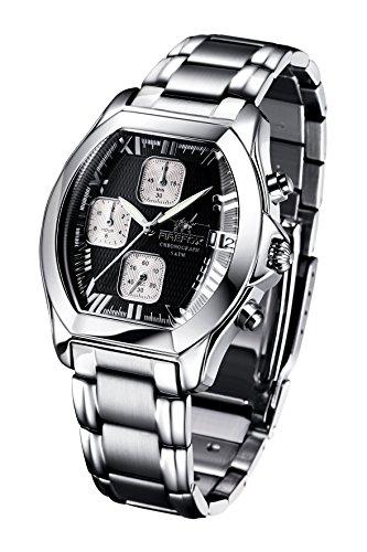FIREFOX NEBUKADNEZAR FFS175-102b schwarz Damenuhr Armbanduhr Chronograph massiv Edelstahl Sicherheitsfaltschließe wasserdicht Miyota OS10