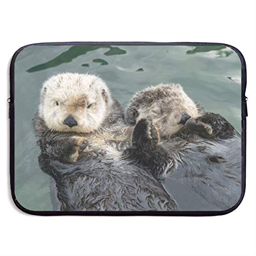 Cuteness Overload Sea Otters Hold Hands Laptop Sleeve Bag Case,Laptop Briefcase Soft Carring Tablet Travel Case,13 inch