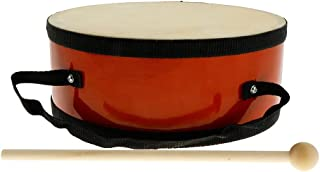 WZHZJ Exquisite Wooden Hand Drum Double Side with Drumstick Mallet,Kids Musical Instrument Toy