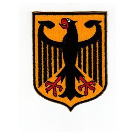 Aufnäher Bügelbild Aufbügler Iron On Patches Applikation Flagge Wappen Deutschland Adler Bundesadler Auto
