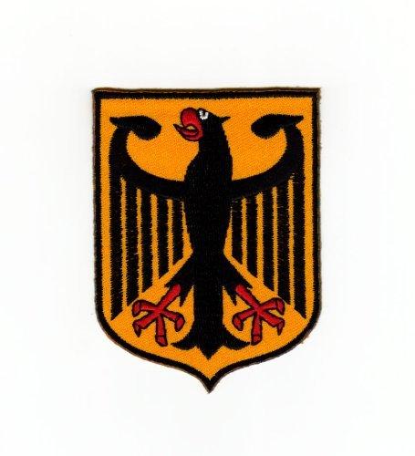 Aufnäher Bügelbild Aufbügler Iron on Patches Applikation Flagge Wappen Deutschland Adler Bundesadler