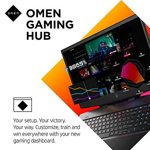 Product Image 5: OMEN 15 Gaming Laptop, NVIDIA GeForce RTX 2070 Super Max-Q, Intel Core i7-10750H, 32 GB DDR4 RAM, 512 GB PCIe NVMe SSD, 15.6″ Full HD 300Hz, Windows 10 Home, RGB Keyboard (15-dh1019nr, 2020 Model)