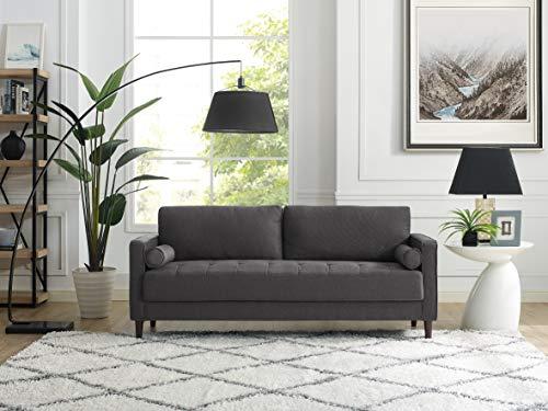 "Lifestyle Solutions Lexington Sofas, 75.6"" W x 31.1"" D x 33.5"" H, Heather Grey"