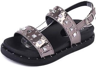 BalaMasa Womens ASL05862 Travel Soft-Toe Comfort Silver Pu Wedge Heels - 5.5 UK (Lable:39)