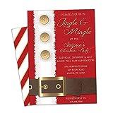 Jingle and Mingle Invitations Christmas Party Invite Santa Coat