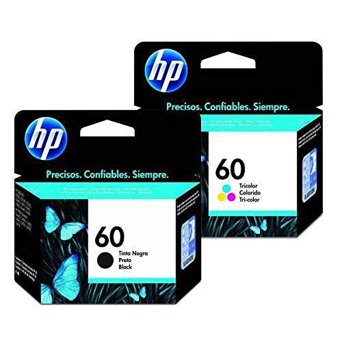 Kit Cartucho Hp 60 Preto 4,5ml + 60 Color 6,5ml (10 POLRGADAS)
