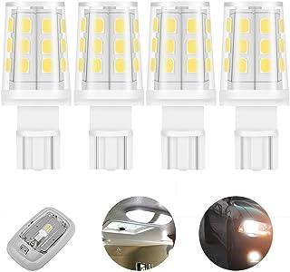 12V 24V 194 921 168 912 W5W T5 T10 wedge base 40W replacement LED light bulb 3W 350lm for reverse light backup light license plate light RV interior lighting bright white 6000K Pack of 4