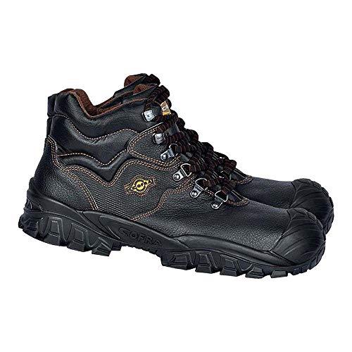 Cofra S.r.l. NT210-000.W48 Cofra Sicherheitsstiefel S3 SRC NEW RENO UK Techno Sicherheitshochschuhe schwarz, Leder Gr. 48 48, Schwarz