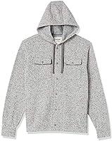 Amazon Brand - Goodthreads Men's Sweater-Knit Fleece Long-Sleeve Shirt Jacket with Hood