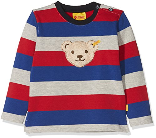 Steiff Steiff Baby-Jungen 1/1 Arm Sweatshirt, Mehrfarbig (Y/d Stripe|Multicolored 0001), 86