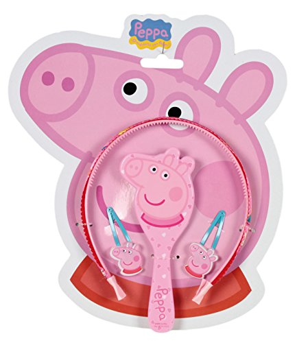 Peppa Pig - Set con Diadema y Accesorios de Pelo, Color Rosa (Cerdá 2502-215)