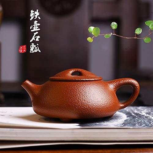 Ceramics Teekanne ton teekanne Porzellan Teekanne handgemachte Qualitätsmodelle Kung Fu Tee Dahongpao Erz Eisen Topf Stein Schaufel Teekanne Neuheit Teekanne Teesieb Teekanne (Color : Purple mud)