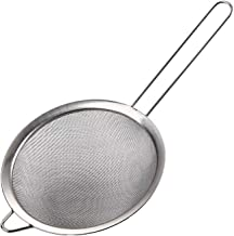 Happyhouse009 Passoire /à aliments en acier inoxydable avec maille m/étallique fine pour cuisine passoire /à long manche pour jus de soja S