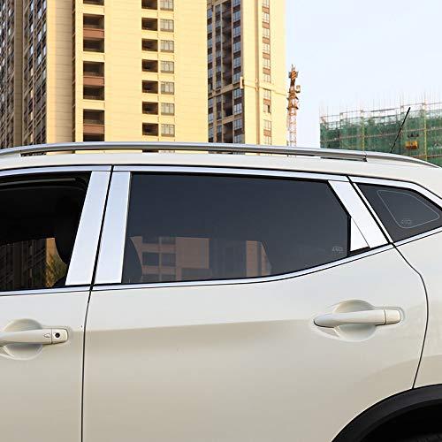 HIGH FLYING für Qashqai J11 2014-2020 Exterieur Tür Fenster Stylingleisten Verchromt Edelstahl 10 Stück